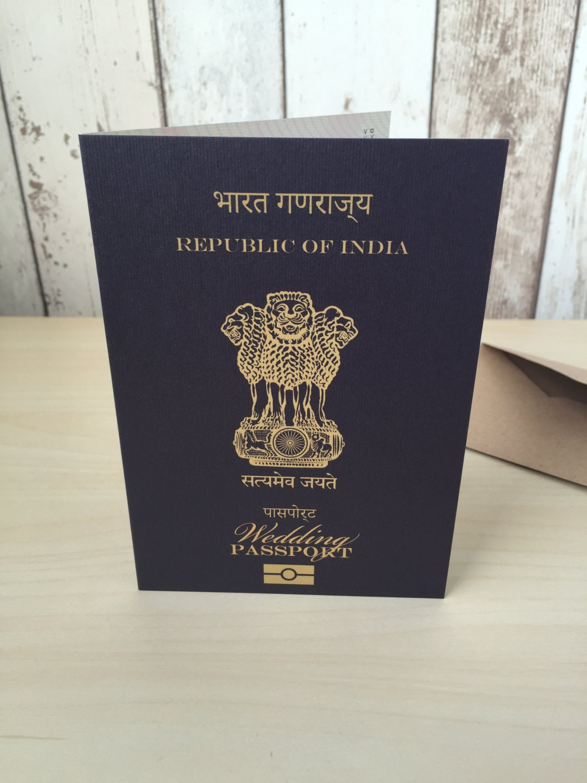Personalised Passport Wedding Invitations India Indian