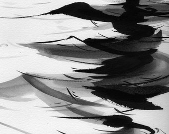 """Figure Fine Art Ink Drawing,  """"Immersion No. 28"""""""