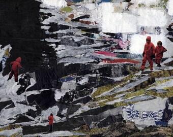 Chasm - original mixed media collage