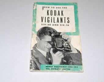 Vintage How to use the Kodak Vigilants six-20 and six 16 Instruction Booklet