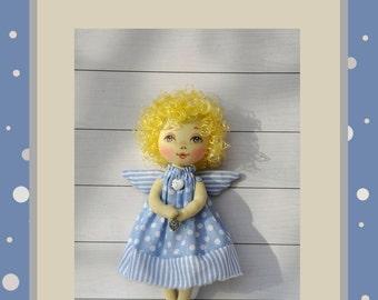 "PDF, angel Doll Pattern 9"" ,PDF Sewing Tutorial,Soft Doll Pattern"