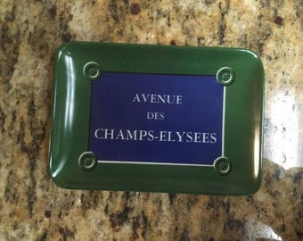 "Avenue Des Champs Elysees Trinket Tray. 4"" x 6"""