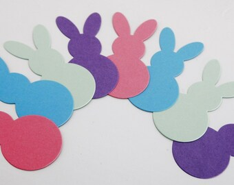 Easter Bunny Die Cut Shapes, Bunny Confetti, Classroom Activities DIY Crafts, Scrapbooking Die Cuts, Birthday Party Decor