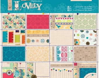 """Papermania Sew Lovely Paper Pack 6""""X6"""" 32/Sheets"""
