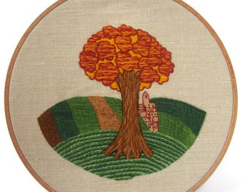 """Traditional embroidery kit """"Automne en Champagne"""""""