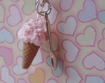 Strawberry Ice Cream Necklace