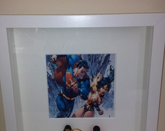 DC Lego Superman and Wonder Woman characters abs choice of print Picture Frame gift