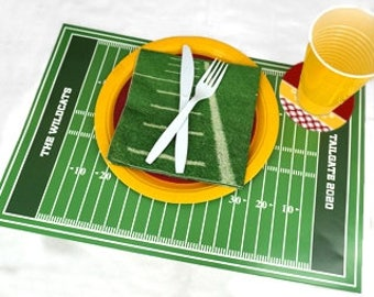 Personalized Sports Themed Place Mats (Set of 24)