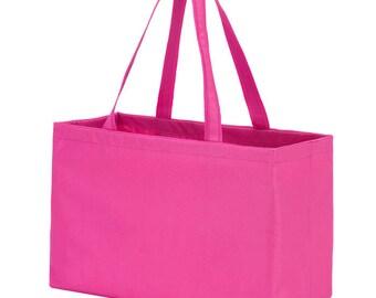 Monogram Beach Bag- Hot Pink Ultimate Tote   Oversized Beach Bag   Pool Bag   Overnight Bag   Graduation Gift   Wedding Gift