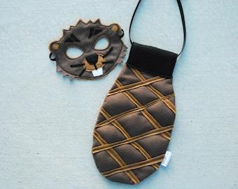 Beaver Costume - Mask, Tail, Mask & Tail Combo