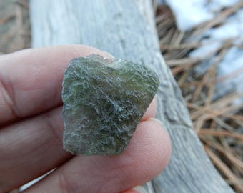 Moldavite - 22mm X 20mm Genuine - jewelry supplies - accent stone - wire wrapping