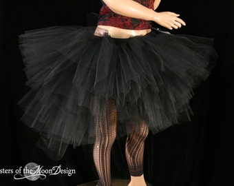 Ultra Dark Ring Master tutu skirt huge poofy adult black gothic goth halloween costume carnival -- You Choose Size -- Sisters of the Moon