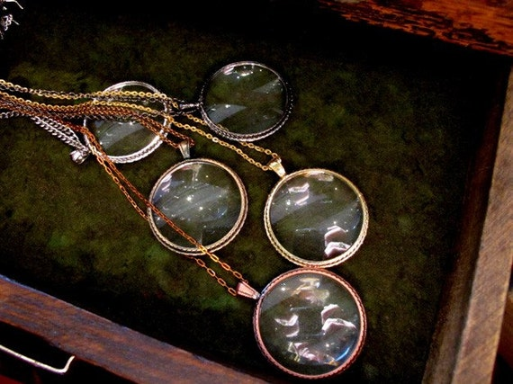 Pick Your Own MONOCLE Necklace - 6 to choose from - MEDIUM