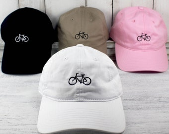 New Bike Icon Baseball Cap Curved Bill Dad Hat 100% Cotton Cycling Road Bike Sign