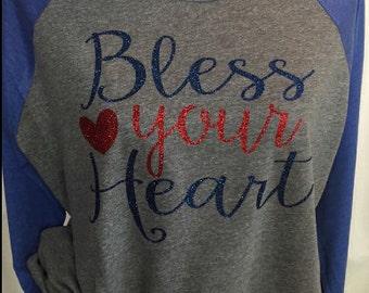 Bless Your Heart Next Level Raglan