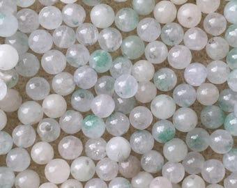 50 x 4mm pale aqua green dyed jade beads