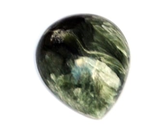 Seraphinite Cabochon Stone (18mm x 16mm x 6mm) 12cts - Drop Cabochon
