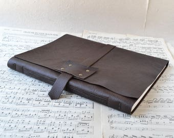 Large Leather Music Book - For the Maestro - Big Sheets of Blank Staff Paper