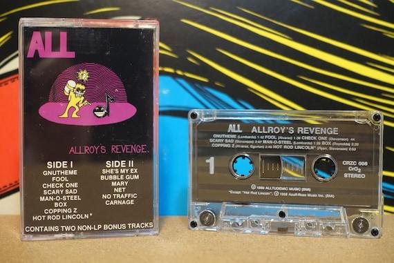 Allroy's Revenge by ALL Vintage Cassette Tape