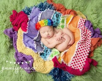 Matter of Refract- rainbow chiffon bloom halo headband bow