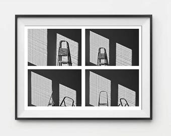 Ladder Collage, Photography, Black & White