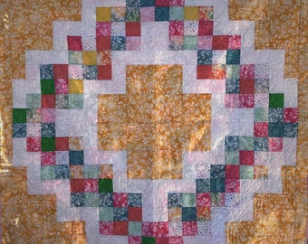Baby Quilt, Baby Girl Quilt, Quilted Blanket,