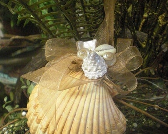 Yellow Scallop Shell Ornament