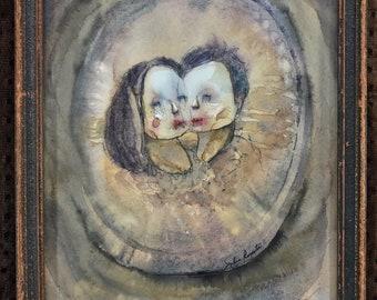 Dream Love (original framed painting)