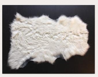 Ivoire charge d'agneau en peau de mouton naturelle de panier de couche de photographie