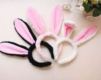 FURSUIT Furry Bunny's Ears Headband Hair Accessory, Easter Rabbit Cosplay Must Have, Lolita Mori Girls Style