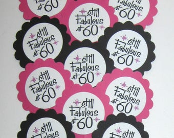 60th Birthday Cupcake Toppers/Party Picks Item #1720