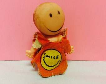 Hapee Wee Doll, Uneeda Doll, Pee Wee, Cute Vintage Dolls, 1960s Doll, Collectible Doll, Smile Doll, Doll with Smiley Face, Cute Vintage Doll
