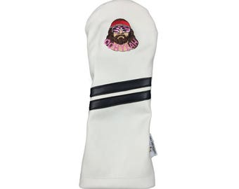 Leather driver golf headcover - Macho Man WWF Wrestler - by Sunfish !