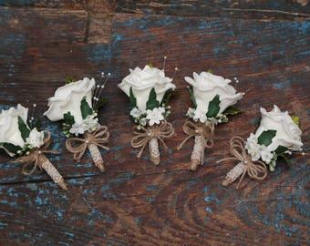 Ladies corsage buttonaire  set of 5