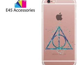 TRIANGLE SYMBOL Harry Potter Watercolour Hard Case for iPhone 5S 5 SE, iPhone 6S 6 or iPhone 7 8