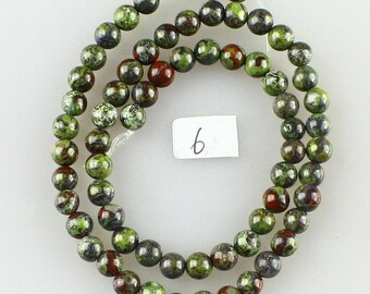 1 strand 64 6 mm dragon blood Jasper beads