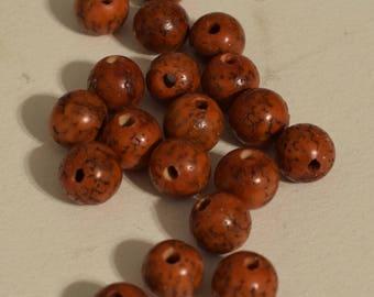 Beads Philippine 10mm Orange Betel Nut Beads Necklace Jewelry Earrings Bracelets Betel Nut Beads