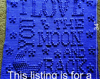 I Love You to the Moon and Back Crochet Baby Blanket Pattern