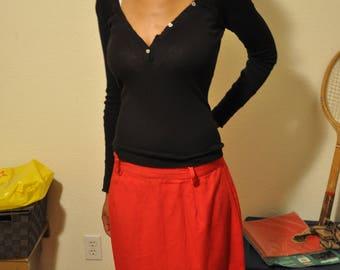 Vintage 1960s Red Bobbie Brooks Pencil Skirt