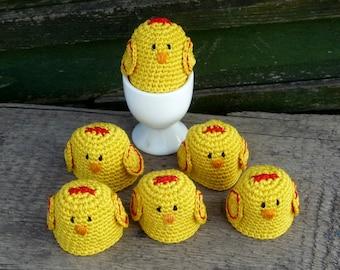 Crochet Egg Cozy - Chicken Egg Warmers - Crochet Chicken - Chicken Egg Cozy - Farmhouse Style Gift - Country Table Decoration - Gift for Mom