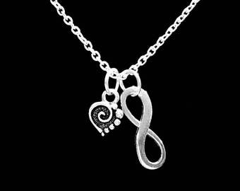Gift For Her, Spiral Heart Necklace, Love Gift Mother's Day, Wife Girlfriend Mom Daughter Friend, Infinity Necklace