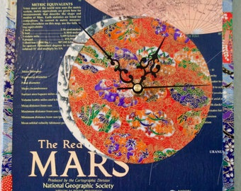 The Red Planet Mars Clock