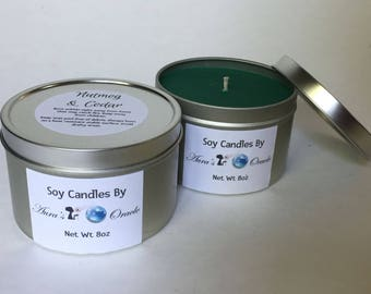 Nutmeg & Cedar 8oz Soy Wax Candle