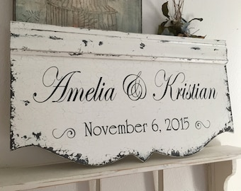 WOOD WEDDING SIGNS    Bride and Groom Signs   Custom Signs   Personalized Signs   Family Name Signs   29 x 14