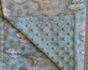 Moon and Stars Baby Blanket