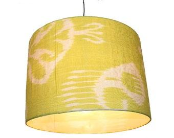 hand made  Unusual Origina Ikat lamp shade from uzbek Ikat No.K