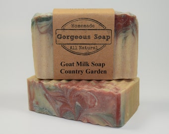 Country Garden Goat Milk Soap - All Natural Soap, Handmade Soap, Homemade Soap, Handcrafted Soap