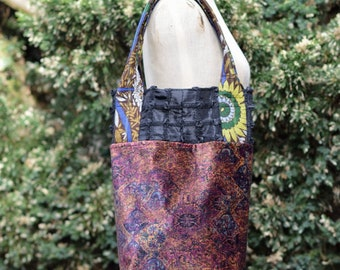 flower in the dark market bag