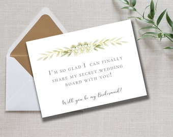 Will You Be My Bridesmaids Note cards // Prints // Custom Wedding Cards