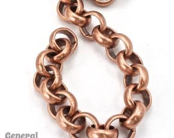 11mm Antique Copper Rolo Chain #CC230